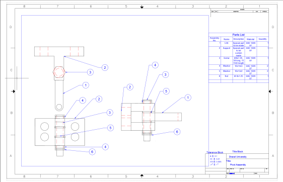 i. AutoCAD Pivot drawing